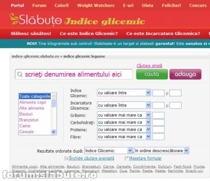cautare-avansata-indice-glicemic Indice glicemic si Incarcatura glicemica
