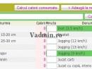 Cautare activitati in tabelul consum de calorii