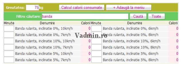 consum-calorii-cautare Cautare activitati in tabelul consum de calorii