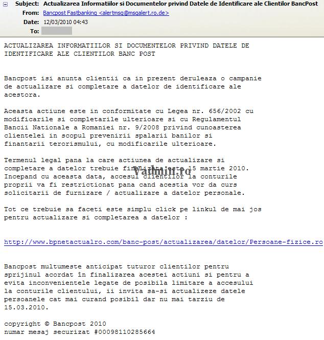 phishing Phishing prin e-mail